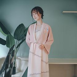妍华◆蘸客时装 花朝记汉服旗下 汉元素绣花连衣裙开衫春款姐妹装