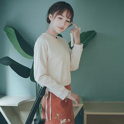 燕燕◆蘸客时装 花朝记汉服旗下 圆领长袖绣花短裙时尚春款女装