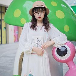 忘忧【蘸客】花朝记旗下原创萱草中国风时装春款女装绣花连衣裙