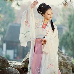 烟波许恰似故人来花朝记汉服刺绣荷花对襟齐腰襦裙大袖衫4.5米女