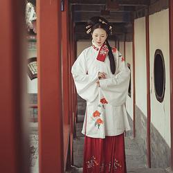 【最后几条马面裙 不厚 4.5米摆 绣花大红色百搭】堆雪花朝记汉服