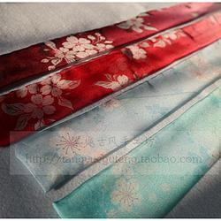【棠樾古风】不定位花双侧渐变色花朵能飘起来的天丝雪纺发带