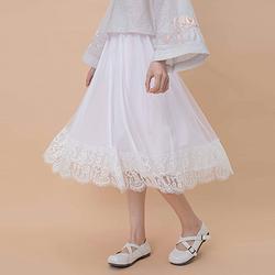 汉尚华莲传统汉服女装内搭衬裙纯色中长裙中腰半身裙日常