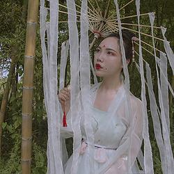 采梦集 原创时尚日常闺蜜基友汉服对襟齐腰襦裙 青灵 蓝染