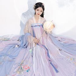 【流烟昔泠-游仙隐】对襟上襦两片式齐胸襦裙近6米大裙摆汉服套装