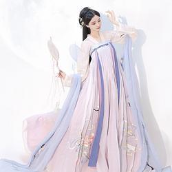 【流烟昔泠-游仙隐】对襟齐胸上襦两片式齐胸襦裙近6米大裙摆汉服