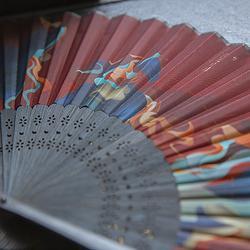 彧卿轻奢原创设计  山海经吉光片羽系列  女扇 6寸折扇 汉服配饰