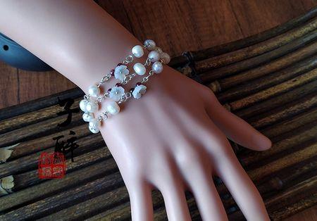 【特价包邮】醉翎坊手工原创天然淡水珍珠瑕疵珠手链夏季小清新