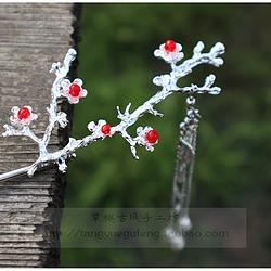 (金银两色可选)【露华】棠樾古风手工树枝流苏发簪
